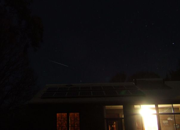 The International Space Station in the night sky