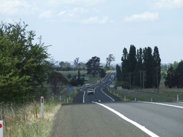 A view along the highway where the incident occured