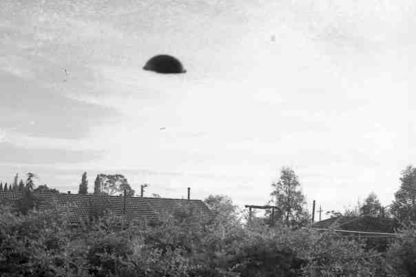 Not a UFO hovering over nearby houses