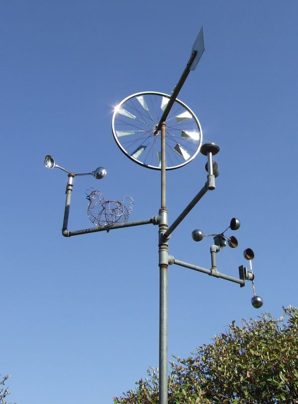 Wind art: A simple piece using an old bicycle wheel | The ...
